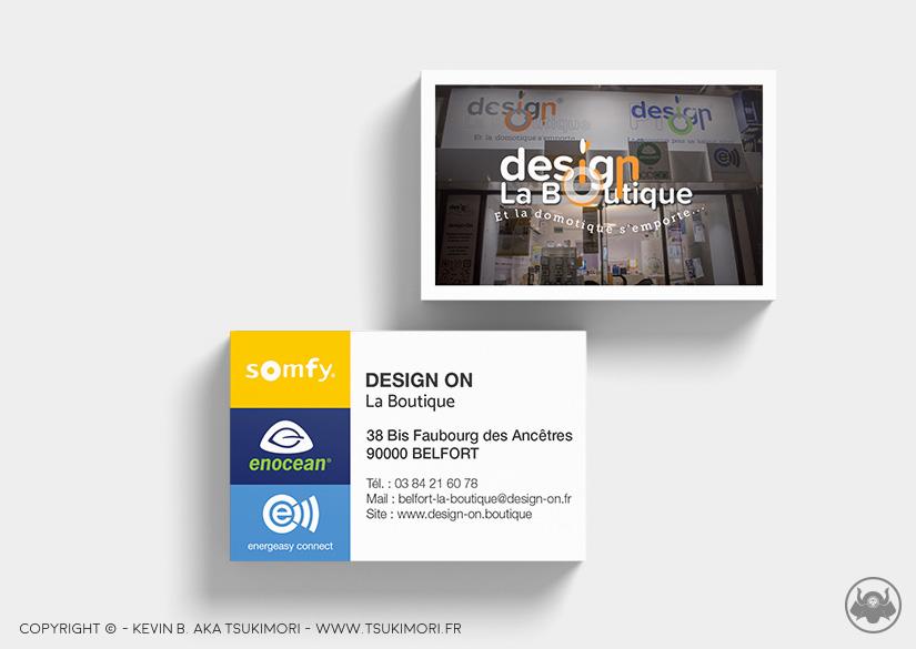 Cartes de visite - Print - Design On - Tsukimori / Kevin Barbier - Infographiste