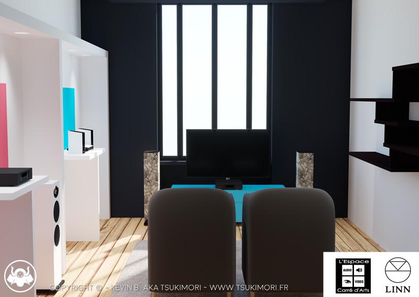 Linn Room - Conception 3D - L'Espace Carré d'Arts - Tsukimori / Kevin Barbier - Infographiste