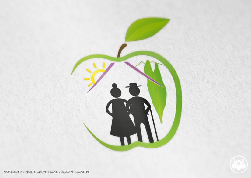 Logo - Identité - Résidence Les Vergers - Tsukimori / Kevin Barbier - Infographiste