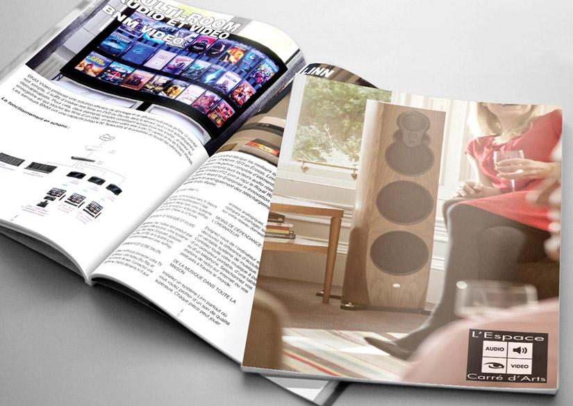 Magazine - Print - L'Espace Carré d'Arts - Tsukimori / Kevin Barbier - Infographiste