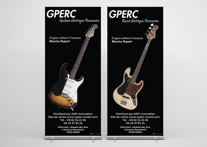 Roll Up - Print - GPERC - Tsukimori / Kevin Barbier - Infographiste
