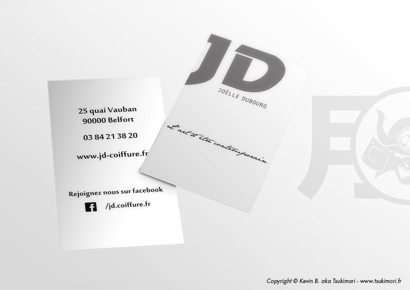 Cartes de visite - Print - JD Coiffure - Tsukimori / Kevin Barbier - Infographiste
