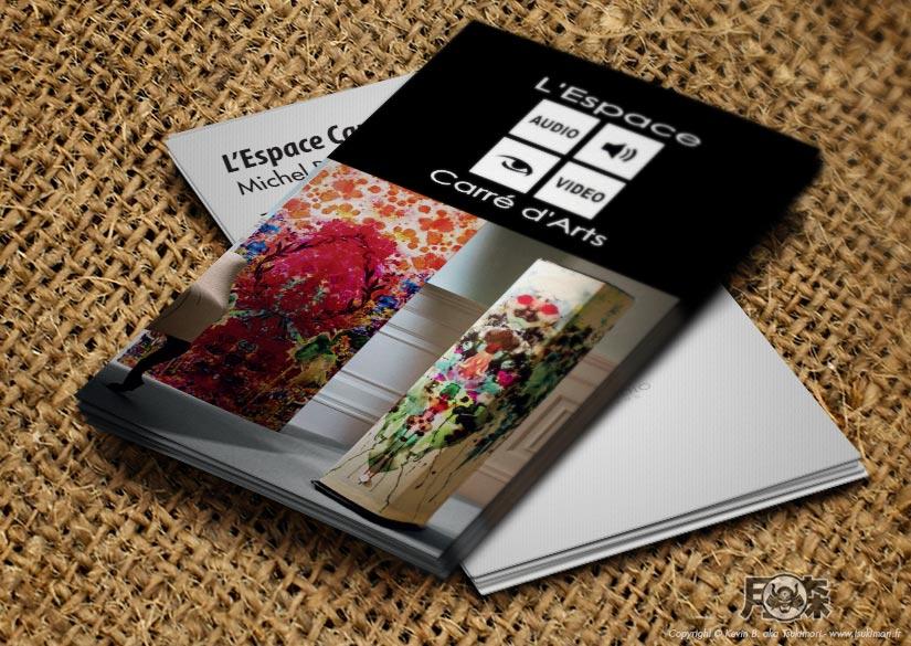 Cartes de visite - Print - L'Espace Carré d'Arts - Tsukimori / Kevin Barbier - Infographiste
