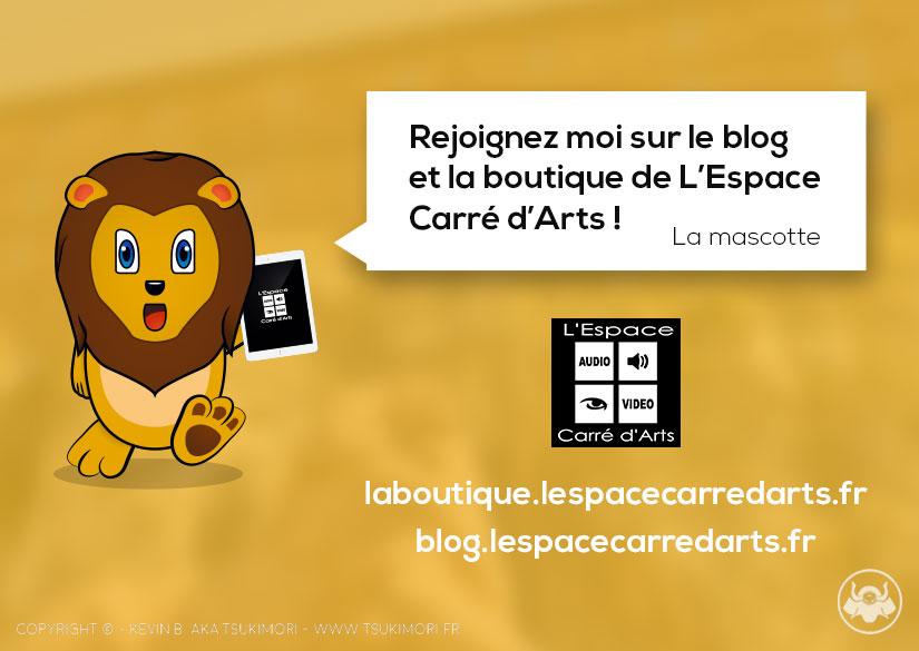 Mascotte - Identité - L'Espace Carré d'Arts - Tsukimori / Kevin Barbier - Infographiste